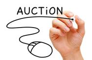 Stock Illustration of online auction concept