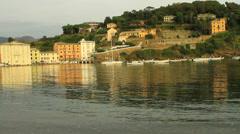 Italy, Liguria, Sestri Levante.  The bay of silence Stock Footage