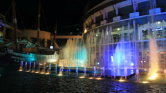 26.02.12. Phuket. Fountain Show in Jungceylon. Stock Footage