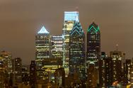 Stock Photo of philadelphia skyline at night