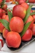 Set of apples fruit preparing for sale on local markets, thailand Stock Photos