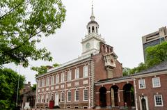 Stock Photo of independence hall in philadelphia, pennsylvania.