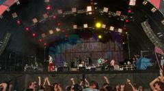 Vopli Vidopliassova live performance at the rock festival The Best City.UA Stock Footage