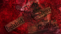 Study Behind Near Deaths Looping Animated Background Stock Footage