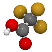 Trifluoroacetic acid (tfa) molecule, chemical structure. Stock Illustration