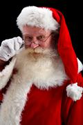 santa portrait - stock photo