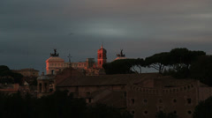 Thousands of starlings over Rome 51 (ideal for end titles) Stock Footage
