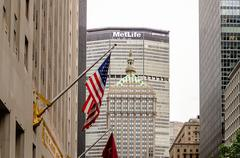 The metlife building, park avenue, new york city Stock Photos