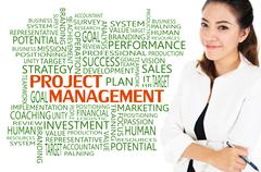 Project Management for business concept Stock Illustration