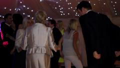 Men and Women Dancing at Party Stock Footage