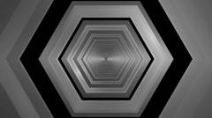 Hexagonal tunnel infiity Stock Footage