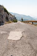 Narrow road in biokovo mountains Stock Photos