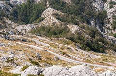 Winding road to sv jure peak Stock Photos