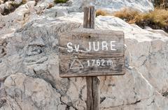 sv. jure peak sign - stock photo