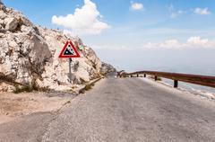 narrow road from sv jure peak - stock photo