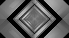Glossy square tunnel Stock Footage