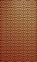 Stock Photo of modern wall pattern on orange brick