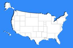 Stock Illustration of blank ohoto in usa map