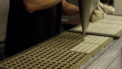 Traditional Handmade Chocolate Production 03 Stock Footage