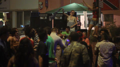People Dancing in Street - Party / Rave - St Paul's Carnival, Bristol - stock footage