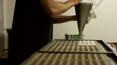 Traditional Handmade Chocolate Production Stock Footage