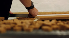 Traditional Handmade Chocolate / Fudge Production Stock Footage