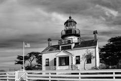 point pinos lighthouse of monterey bay - stock photo