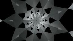 3D kaleidoscope infinite - stock footage