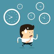 The time management - stock illustration