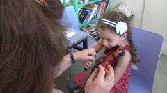violin lesson - stock footage