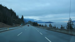 Sea to Sky highway. Stock Footage