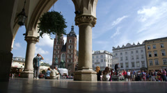 Krakow Old Town Square Stock Footage