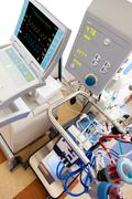 extracorporeal membrane oxygenation (ecmo) withiintra-aortic balloon counterp - stock photo