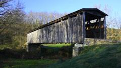 Johnsons Creek Covered Bridge, Kentucky Stock Footage