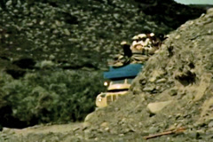 Aden Protectorate truck cargo desert road vintage SD Stock Footage