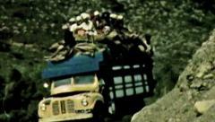 Aden Protectorate truck cargo desert road vintage HD Stock Footage