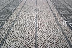 Portuguese pavement, calcada portuguesa Stock Photos