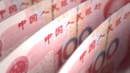 Stock Video Footage of Yuan Close-up