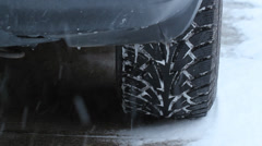 Snow tire tread. Stock Footage