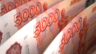 Stock Video Footage of Ruble Close-up