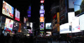 Ultra HD 4K Night Times Square New York City Busy Transportation Crowds Passing  Footage