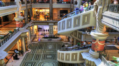 Stock Video Footage of A timelapse of the shops at Caesar's Palace, Las Vegas, Nevada