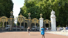 Canada Gate in Green Park, near Buckingham Palace, London, UK. Stock Footage