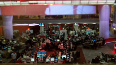 Busy World News Room - stock footage