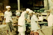 Stock Video Footage of Aden Protectorate public food market vintage film SD