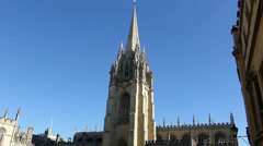 Magdalen College, UK (OXFORD UNIVERSITY STREET SCENE-48a--Magdalen College) Stock Footage