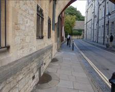 Street scene at Bridge of Sighs, Oxford (OXFORD STREET SCENE 20b) Stock Footage