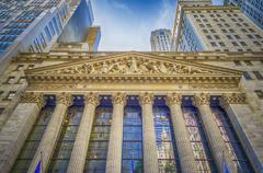 ny stock exchange, wall street - stock photo