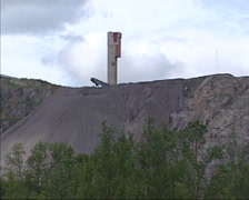 Iron ore mine near Kiruna, Sweden Stock Footage