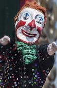 clown puppet - stock photo